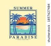summer style tee print design...   Shutterstock .eps vector #1857627484