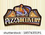 vector logo for pizza delivery  ... | Shutterstock .eps vector #1857635191