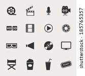 movie icon set | Shutterstock .eps vector #185765357