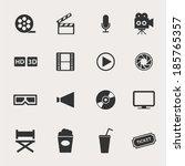 movie icon set | Shutterstock .eps vector #185765357