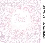 vector floral background with... | Shutterstock .eps vector #185767184