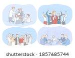 success  agreement  business ... | Shutterstock .eps vector #1857685744