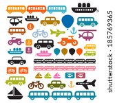 vector transportation icons... | Shutterstock .eps vector #185769365