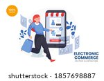 retail e commerce vector...