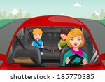 a vector illustration of mother ... | Shutterstock .eps vector #185770385