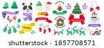 christmas label vector logo for ... | Shutterstock .eps vector #1857708571