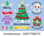 christmas label vector logo for ... | Shutterstock .eps vector #1857708574