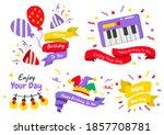 party label vector logo for... | Shutterstock .eps vector #1857708781