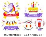 party label vector logo for... | Shutterstock .eps vector #1857708784