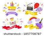 party label vector logo for... | Shutterstock .eps vector #1857708787