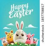 banner for easter greetings... | Shutterstock .eps vector #1857708817