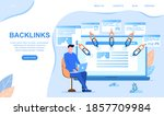 backlinks or link building. seo ... | Shutterstock .eps vector #1857709984
