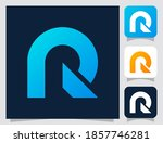 alphabet letter r logo icon in...