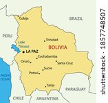 Plurinational State of Bolivia - vector map