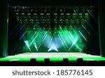 Illuminated Empty Concert Stag...