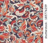 seamless etno pattern. vector. | Shutterstock .eps vector #185776259