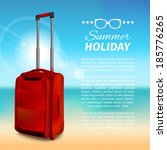 vector summer background. red ... | Shutterstock .eps vector #185776265