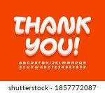 vector message card thank you ...   Shutterstock .eps vector #1857772087