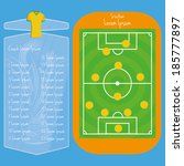 vector soccer field editable... | Shutterstock .eps vector #185777897