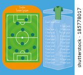 vector soccer field editable... | Shutterstock .eps vector #185778017