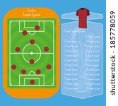 vector soccer field editable... | Shutterstock .eps vector #185778059