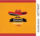 menu mexican  template design... | Shutterstock .eps vector #185778407