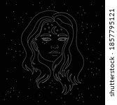 virgo zodiac sign white symbol... | Shutterstock .eps vector #1857795121