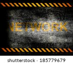 under construction with yellow... | Shutterstock . vector #185779679