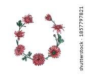 sketch watercolor floral botany ... | Shutterstock . vector #1857797821