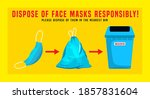 dispose of face masks. correct... | Shutterstock .eps vector #1857831604