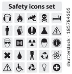 Safety icon set