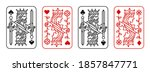 king and queen playing card... | Shutterstock .eps vector #1857847771