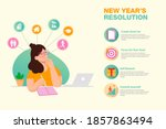 new years resolution and goals... | Shutterstock .eps vector #1857863494