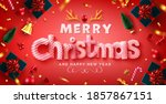vector of merry christmas  ... | Shutterstock .eps vector #1857867151