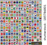 220 flags of the world ... | Shutterstock .eps vector #185786801