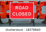 temporary barricade across a... | Shutterstock . vector #18578860