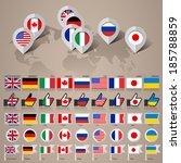 set of flags countries members... | Shutterstock .eps vector #185788859