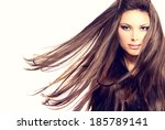 fashion model girl portrait... | Shutterstock . vector #185789141