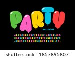 party balloons style font... | Shutterstock .eps vector #1857895807