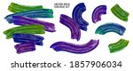 acrylic paint strokes vector.... | Shutterstock .eps vector #1857906034