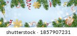 christmas background with... | Shutterstock .eps vector #1857907231