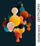 fluid multicolor 3d bubbles on... | Shutterstock .eps vector #1857912934