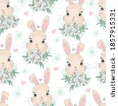 seamless pattern cute bunny and ...   Shutterstock .eps vector #1857915331
