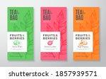 exotic fruits tea labels set.... | Shutterstock .eps vector #1857939571