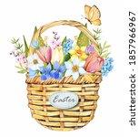 Easter Basket. Spring Flowers...