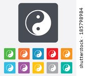 ying yang sign icon. harmony... | Shutterstock .eps vector #185798984