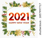 new year 2021 background with... | Shutterstock .eps vector #1857997717