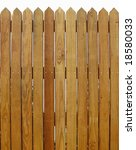 Wood Fence -- with slats that show the natural wood pattern - stock photo