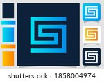 alphabet letter s logo icon in...