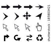 set of cursors | Shutterstock .eps vector #185803421